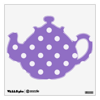 Polka Dots Teapot V4 Wall Sticker