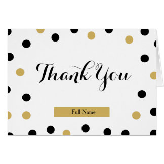 Polka Dots Thank You Cards