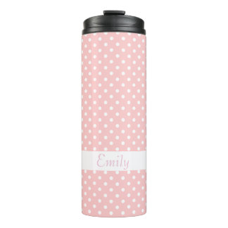 Polka Dots Thermal Tumbler
