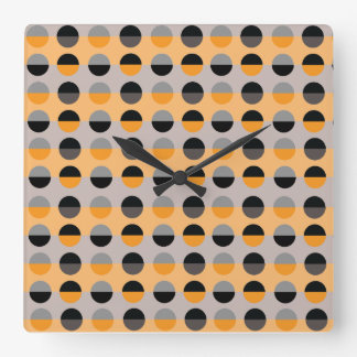 Polka Dots Trendy Modern Retro Pattern Cool Chic Square Wall Clock