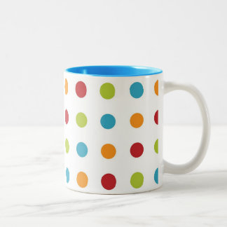 Polka Dots Two-Tone Coffee Mug