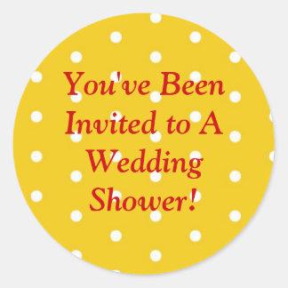 Polka Dots Wedding Stickers