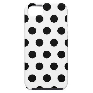 Polka Dots White & Black iPhone 5 Cover
