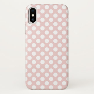 Polka Dots White on Pink