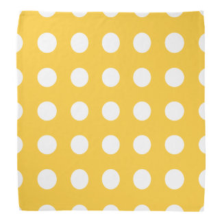 Polka Dots Yellow Bandana