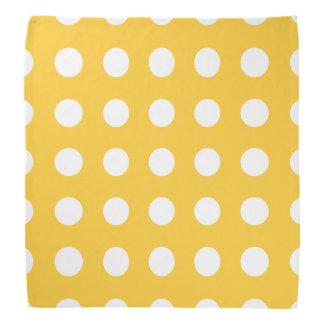 Polka Dots Yellow Head Kerchief