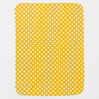 Polka Dots Yellow/White Reversible Baby Blanket