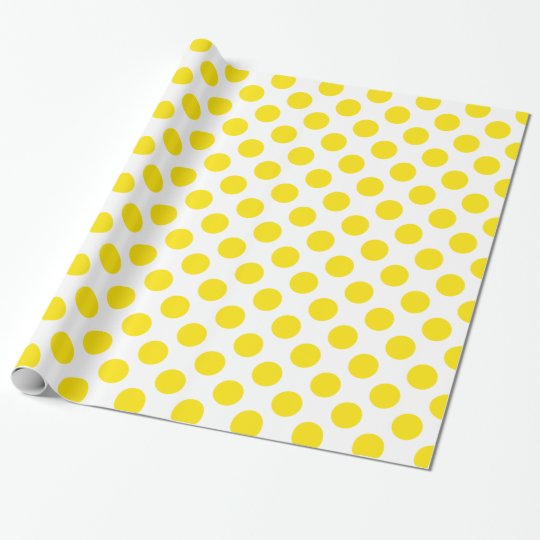 Polka Dots Yellow Wrapping Paper