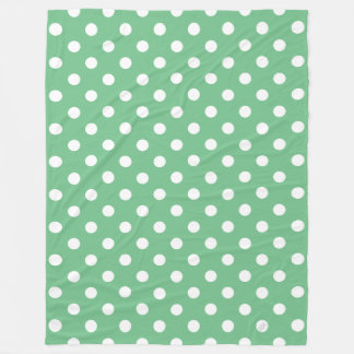 polka fleece blanket