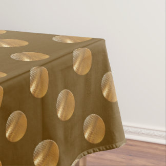Polka golden dots tablecloth