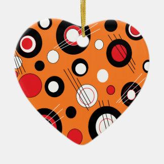 Polka Orange Ceramic Ornament