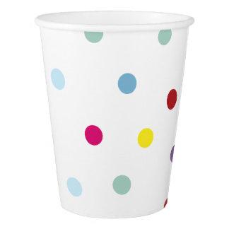 Polka pattern paper cups