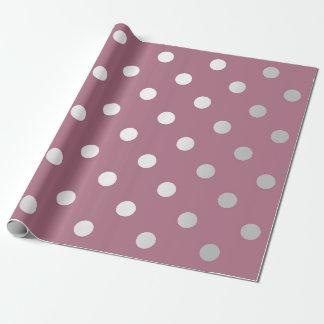 Polka Small Dots Plum Purple Pastel Silver Gray