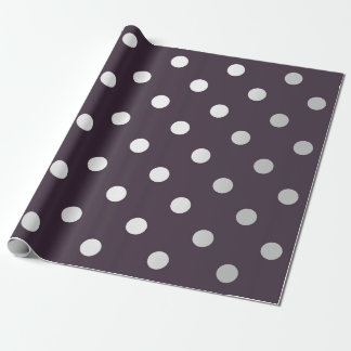 Polka Small Dots Silver Gray VIP Maroon Brown Plum Wrapping Paper