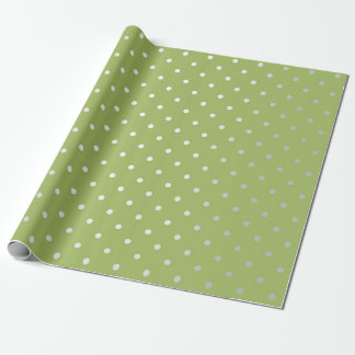 Polka Tiny Small Dots Silver Gray Pea Greenly VIP Wrapping Paper