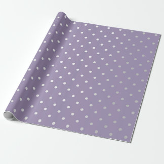 Polka Tiny Small Dots Silver Gray Plum Purple