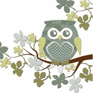 Polka Tree Owl Photo Sculpture