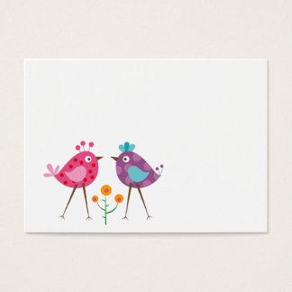 polkadot birds business card