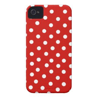polkadot blanc rouge étui iPhone 4