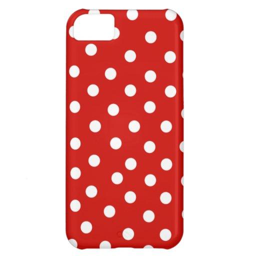 polkadot blanc rouge étuis iPhone 5C
