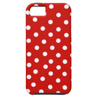 polkadot blanc rouge coques iPhone 5
