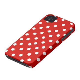 polkadot blanc rouge coque Case-Mate iPhone 4