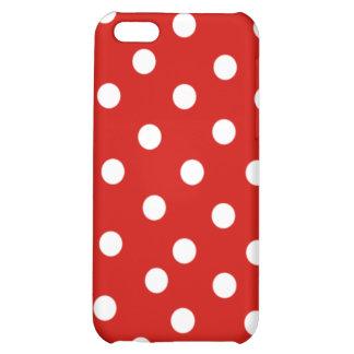 polkadot blanc rouge étui iPhone 5C