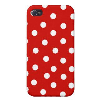 polkadot blanc rouge étuis iPhone 4