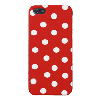 polkadot blanc rouge coque iPhone 5