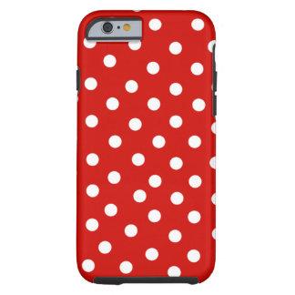 polkadot blanc rouge coque iPhone 6 tough