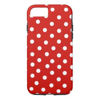 polkadot blanc rouge coque iPhone 7