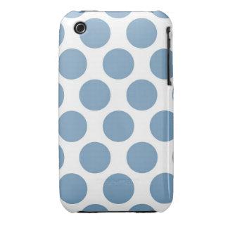 Polkadot bleu-clair étuis iPhone 3