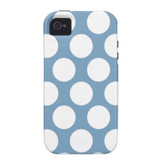 Polkadot bleu-clair coque iPhone 4 vibe
