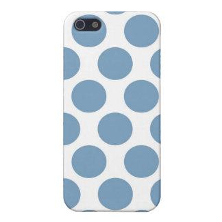Polkadot bleu-clair étuis iPhone 5
