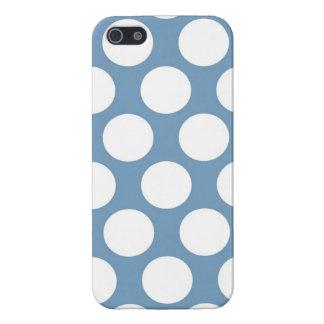 Polkadot bleu-clair coques iPhone 5
