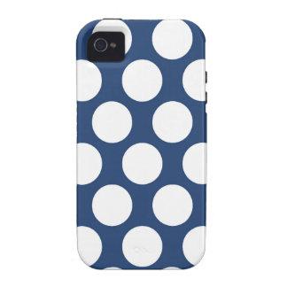 Polkadot bleu-foncé iPhone 4/4S case