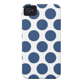 Polkadot bleu-foncé coques iPhone 4