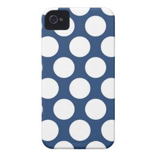 Polkadot bleu-foncé coque iPhone 4