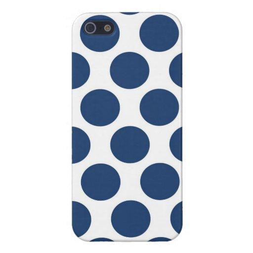 Polkadot bleu-foncé coque iPhone 5