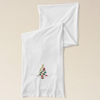 Polkadot Christmas Tree Art Scarf