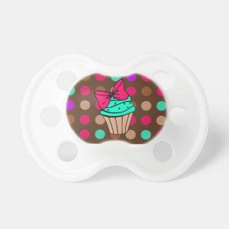 Polkadot Cupcake Pacifier
