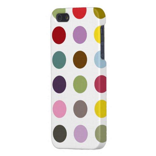 Polkadot de bubble-gum étuis iPhone 5