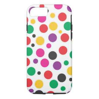 Polkadot de bubble-gum d'arc-en-ciel coque iPhone 7