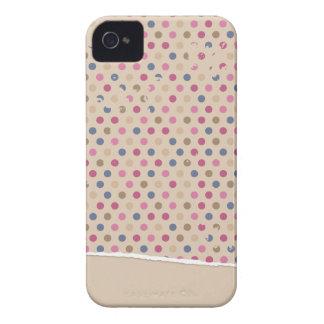 Polkadot de rose de beige coque Case-Mate iPhone 4
