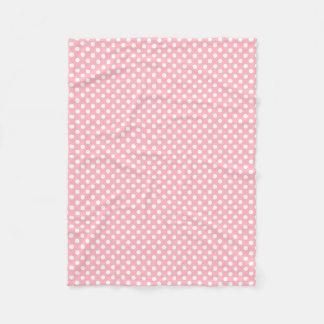 Polkadot Design Light Pink Fleece Blanket