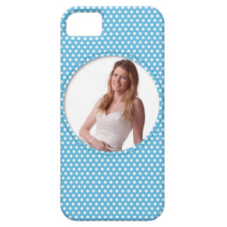 Polkadot Frame in blue iPhone 5 Cases