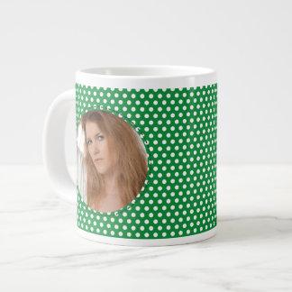 Polkadot Frame in green Jumbo Mug