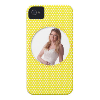 Polkadot Frame in yellow iPhone 4 Cover