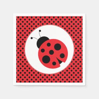 Polkadot Ladybug Party Napkins Disposable Napkins