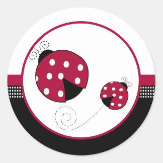 Polkadot Ladybugs Envelope Seals